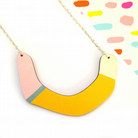 Petalo Abstract Geometric Statement Necklace