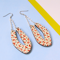 Geometric Petalo Statement Polka Dot Drop Earrings
