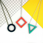 Geometric Contemporary Cut Out Wooden Delta Necklace