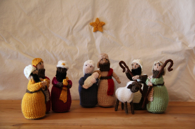 Small Knitted Nativity