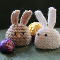 Hand Knitted Bunny Sweetie Holder