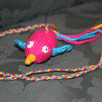 Hand Knitted Humming Bird Catnip Toy