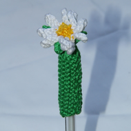 Hand Knitted Daisy Pen Topper