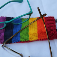 Hand Knitted Rainbow Spectacle Sweater