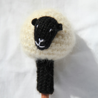 Hand Knitted Cambridge Sheep Pen Topper