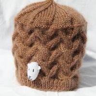Hand Knitted Sheep Hat