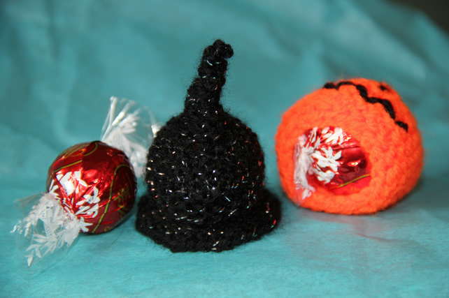 Hand Knitted Witch's Hat Sweetie Holder