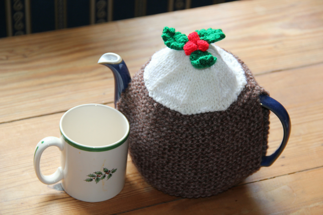 Christmas Pudding Tea Cosy for 6 Cup Teapot