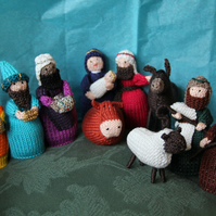 Cotton Hand Knitted Nativity