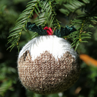 Large Hand Knitted Christmas Pudding Bauble