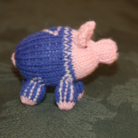 Hand Knitted Number 7 Footie Piglet