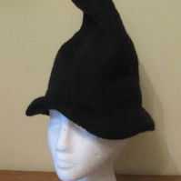 Hand Knitted Halloween Witch's Hat