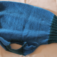 Hettie Whippet Hand Knitted Turquoise & Blue Tank