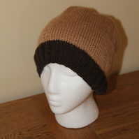Hand Knitted Cashmere and Alpaca Mix Beanie
