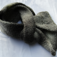 Hand Knitted Random Grey Shades Alpaca & Mohair Mix Scarf