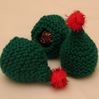 Hand Knitted Christmas Tree Sweetie Holder