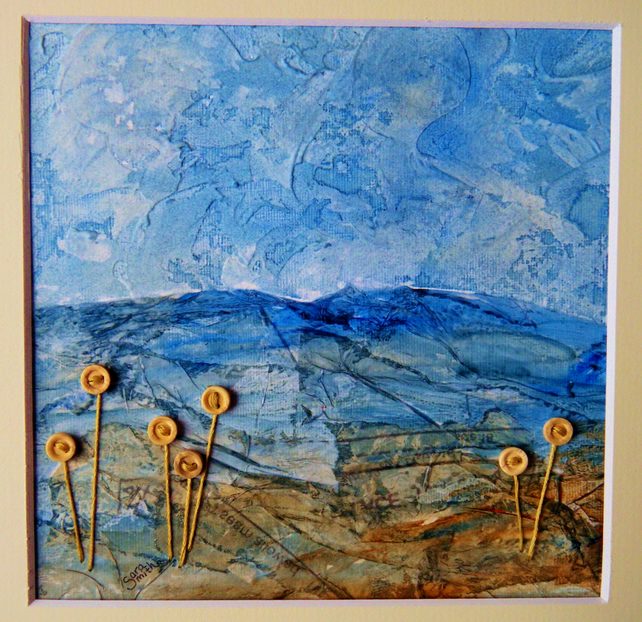 Mixed Media Landscape Using Recycled Papers Folksy