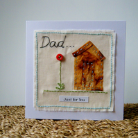 Hand stitched card for dad