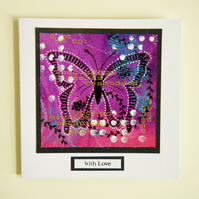 Handmade butterfly with love anniversary card