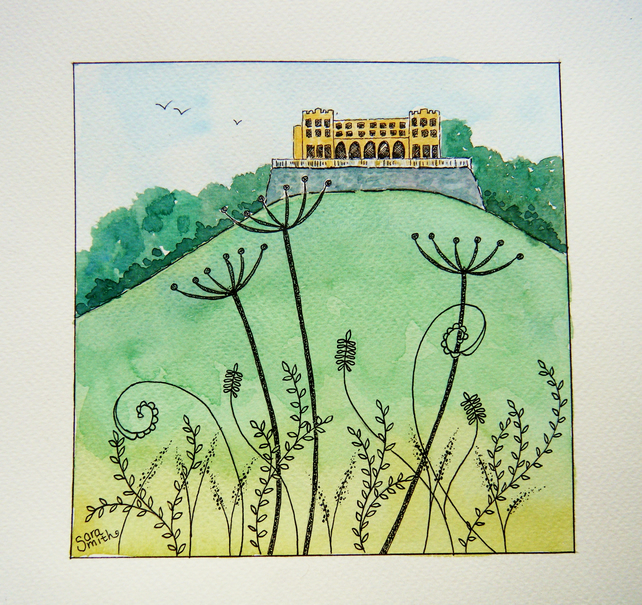 The Dower House original watercolour painting