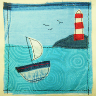 To the lighthouse textile picture