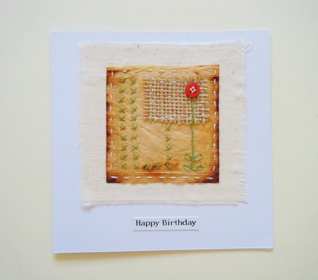 Teabag birthday card