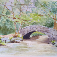 Dartmoor Bridge original signed watercolour