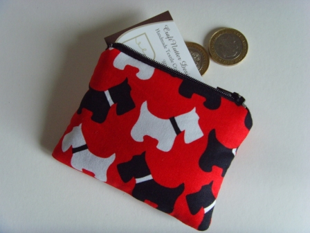 Coin Purse - Scotty Dogs Red