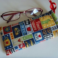 Glasses Case Drawstring Pouch - NYC