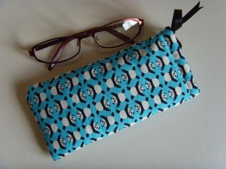 Glasses Case Drawstring Pouch - Pandas