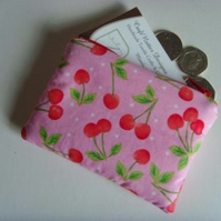 Coin Purse - Pink Cherries