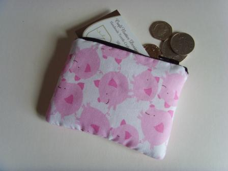 Coin Purse - Pink Pigs