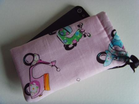 Scooters - iPhone 5 Samsung S mini Ipod Case Drawstring Pouch