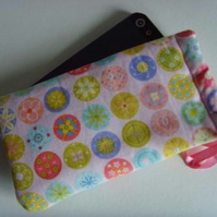 iPhone 5 Samsung S mini Ipod Case Drawstring Pouch - Buttons
