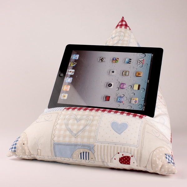 Blue Bobo - Tablet - iPad - e-reader - Book - Beanbag - Cushion - Pillow