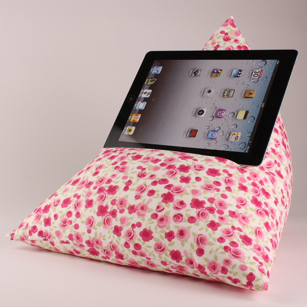 Ditsy Rose - Tablet - iPad - e-reader - Book - Beanbag - Cushion - Pillow