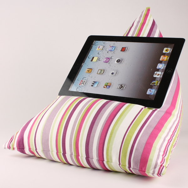 PGP Stripes - Tablet - iPad - e-reader - Book - Beanbag - Cushion - Pillow