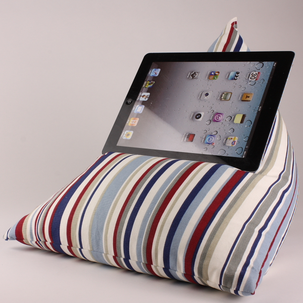 RWB Stripes - Tablet - iPad - e-reader - Book - Beanbag - Cushion - Pillow