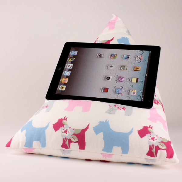 Scotties - Tablet - iPad - e-reader - Book - Magazine - Beanbag - Cushion Pillow