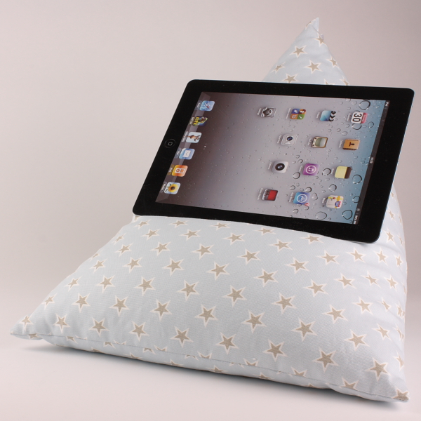 Stars Blue - Tablet - iPad - e-reader - Book - Beanbag - Cushion - Pillow