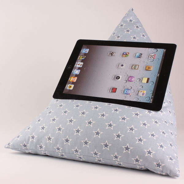 Stars Chambray - Tablet - iPad - e-reader - Book - Beanbag - Cushion - Pillow