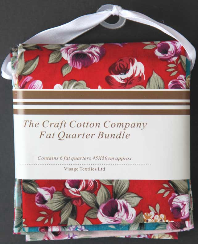 Fat quarter bundle (6) 'Summer Flowers' from the Craft Cotton Co