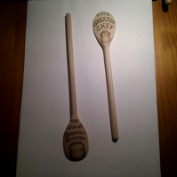 pyrographed wooden spoon