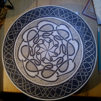 Hand pyrographed Celtic style snake design board