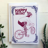 Birthday Card - HAPPY BIKE DAY