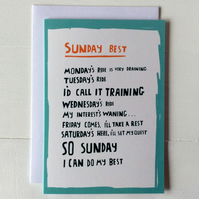 Cycling Greeting Card - Sunday Best
