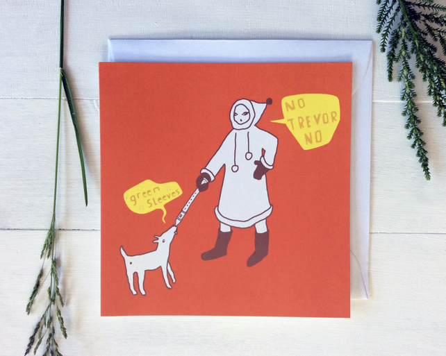 Greeting Card FUNNY MUSICAL DOG