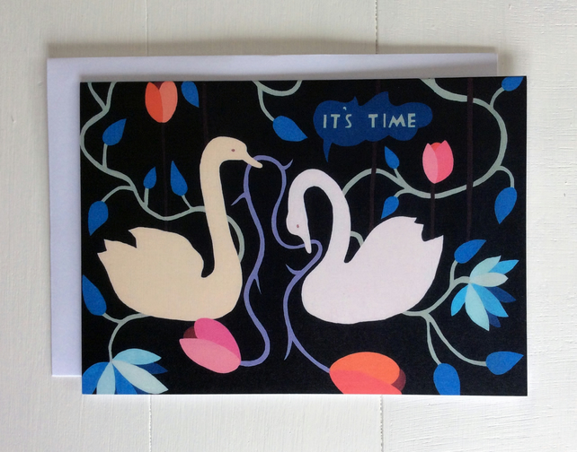 Love Swans Greeting Card