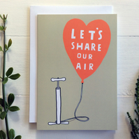 Card - Let's Share Our Air - Cycle Pump