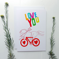 Cycling Card - LOVE YOU Biker